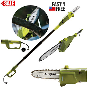 Tree Trimmer Pole Saw Electric Chainsaw Pruner Telescoping 15 Ft Branch Cutter