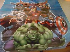 Marvel Avengers Assemble Wall Decal 24 x 18 Inches NIP Repostionable Hulk Iron M