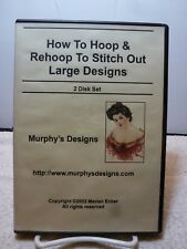 How To Hoop & Rehoop to stich Out Large Design By Marian Ecker 2 DVD Set - USED