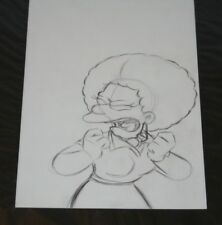 Simpsons Tv Show Original Animation Art Cel Drawing Patty
