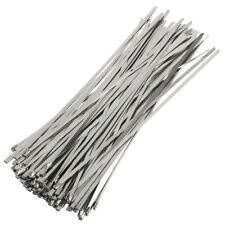 100 Stück Metallkabelbinder Edelstahl Kabelbinder Stahlband 300mm Hitzeschutzban