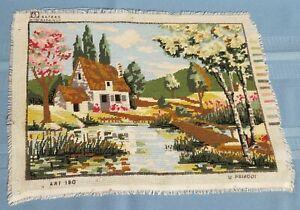 "Tapestry/gobelin, ""in nature"" Needlepoint, Handmade Finish-13.5'' x 9.5''"