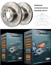 NEW ULTIMA FRONT PAIR ROTORS + PADS HOLDEN COMMODORE ONE TONNER VY VZ 2003- 2006