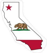 Sticker decal car bike bumper california flag map usa united states macbook