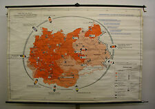 Schulwandkarte muro mapa grande-Alemania NS-estado tercer Reich 216x152cm ~ 1960
