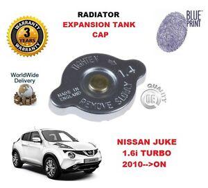 FOR NISSAN JUKE 1.6 i TURBO 2010-->ON RADIATOR EXPANSION TANK CAP