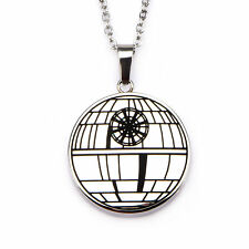 Star Wars Rogue One Death Star Locket Pendant Stainless Steel Necklace