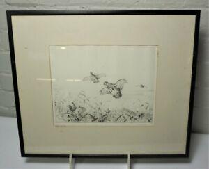 Winifred Austen (1876-1964) - Original Signed Etching - Partridges in Flight.