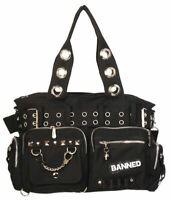 Banned Apparel Durable Handcuff Shoulder Bag Canvas Handbag Rockabilly Gothic