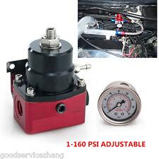 Adjustable Fuel Pressure Regulator + 160psi Gauge AN 6 Fitting End Universal