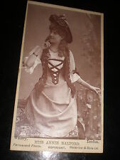 Cdv old photograph actress Annie Halford by Walery London c1890s