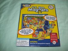 Active Minds U.S. Map Magnets Puzzle ~Geography & Motor Skills ~ New Sealed