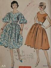 Advance Vintage Pattern 8984 Size 13 One Piece Dress Flared Skirt 2 Styles Unuse