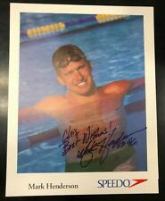 Olympic Swim GOLD Medalist, Mark Henderson AUTOGRAPHED photo