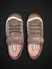 Keen Youth Brown Pink Suede Fashion Sneaker Velcro 5M EU 38