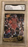 Michael Jordan Card 1992-93 Ultra Award Winners #1 Chicago Bulls BGS GMA 10