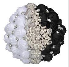 18 Cm Hand Holding Bouquets Black Bridal Bride Flower Wedding Bridesmaid Flowers