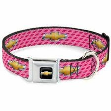 Buckle-Down Chevrolet Logo Pink Medium Seatbelt Buckle Dog Collar - DC-WCH010-M
