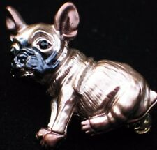 SASSY CUTE TAUPE BROWN BLACK PIT BULL PUG BOXER PUPPY DOG PIN BROOCH JEWELRY 3D