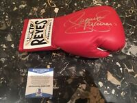 Manny Pacquiao Signed Autograph Red Cleto Reyes Boxing Glove Beckett Cert