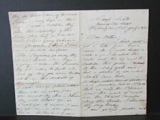 1861 Camp Scott Washington D.C. Civil War soldier letter