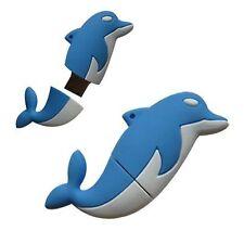 Bleu Novelty Dolphin Sealife animal forme 16GB usb memory stick flash drive