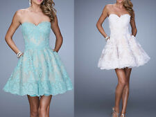 Short/Mini Lace Bridesmaid Formal Evening Cocktail Party Prom Dresses Ball Gown