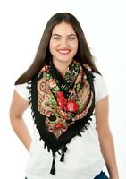 Colourful floral folk vintage style scarf shawl new spring collection