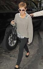 VINCE Yak Wool Thermal Chubby Waffle Knit Hi Lo Sweater M Oat ASO Emma Watson