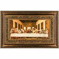 Spiritual Jesus The Last Supper Framed Wall Hanging Religious Decor Art Piece