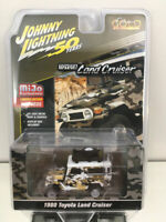 Toyota Land Cruiser 1980 4x4 Off Road White Camouflage,Scale 1:64 by J Lightning
