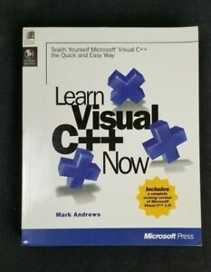 Learn Microsoft Visual C++ 1.0 Now By Mark Andrews CD-ROM Included