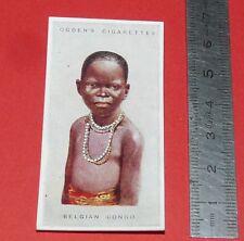 CIGARETTES CARD OGDEN'S 1923 CHILDREN OF ALL NATIONS N°5 BELGIAN CONGO BELGE