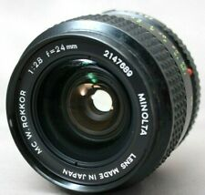 *Rare* Minolta MC W.Rokkor 1:2.8 24mm Lens *As is* #XX13a