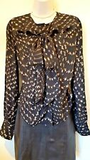 Vivienne Westwood Red Label black mix Pussy Bow Blouse Size 42