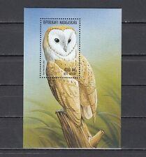 Malagasy, Scott cat. 1398. Barn Owl s/sheet.