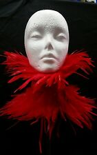 Red feather collar choker