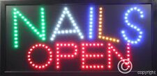 QUALITY  FLASHING NAILS OPEN  beauty led new shop signs