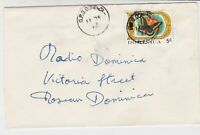 Dominica 1972 GPO Dominica Cancel Butterfly Stamp Cover Ref 33610