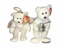 TY Beanie Baby - HUGSY the Hershey Bear & HALO The Angel Bear