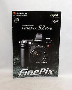 FujiFilm Fuji Digital Camera FinePix S2 Pro Brochure Pamphlet