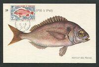 ST. PIERRE MK 1972 FISCHE FISH PECHE MAXIMUMKARTE CARTE MAXIMUM CARD MC CM d7048