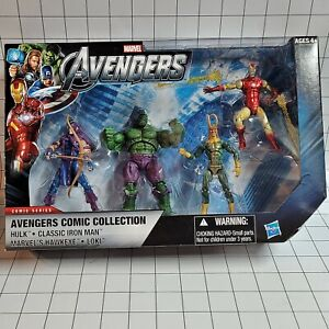 """Marvel Universe 3.75"""" Avengers Comic Collection 4-Pack Set 02"""
