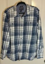 American Rag Men's Blue Checks and Plaids Long Sleeve Shirt Size XL