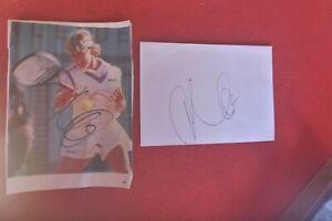 GERMAN TENNIS STAR ANKE HUBER HAND SIGNED  MAGAZINE PICTURE 16X12CM & ENVELOPE