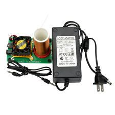 Mini Tesla Coil Plasma Speaker Kit Electronic Field Music 20W Board+Power Supply