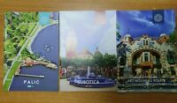 Guide travel tourism 3 brochure Palic Subotica  Art Noveau route tourist YUG