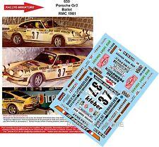 DECALS 1/24 REF 659 PORSCHE 911 BALLET RALLYE MONTE CARLO 1981 RALLY WRC