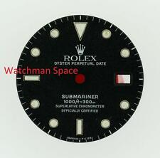 Original Men's Rolex Submariner Date Gloss Black Gilt Dial 16800 16610 S/S #D44