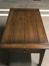 "Custom made solid wood coffee table with 2 drawers 48"" x 28"" x 22"""